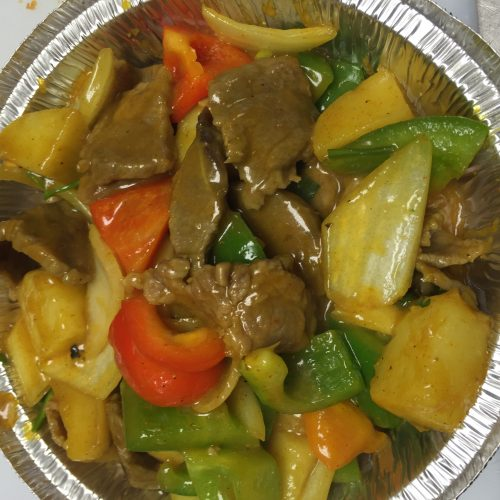 Curry Beef with Potato & Onion