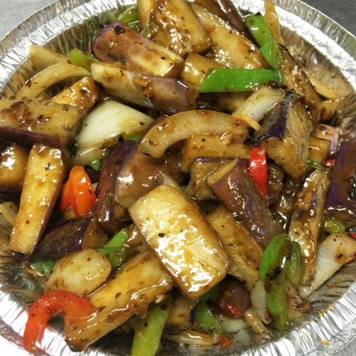 Stir Fried Eggplant in Blackbean Garlic Sauce