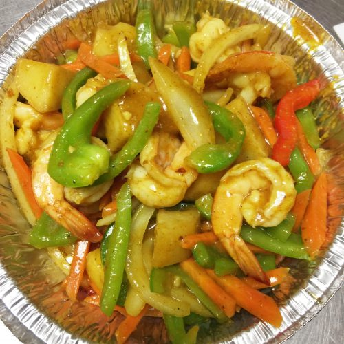 Curry Shrimp with Potato & Onion