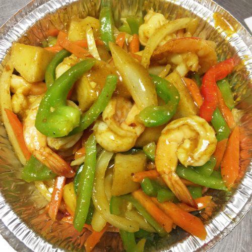 Curry Shrimp with Potato & Onion