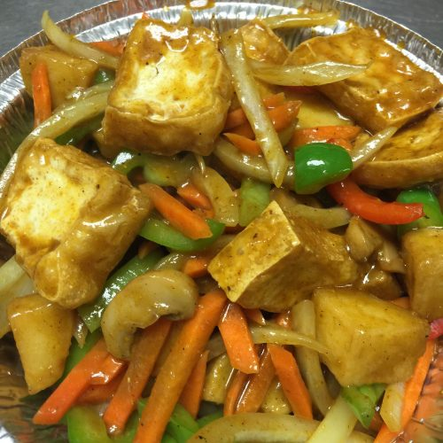 Curry Tofu with Potato & Onion